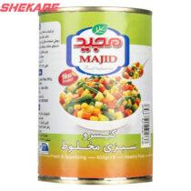 کنسرو سبزی مخلوط مجید 40