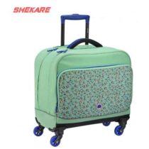 کیف چرخ دار آبی