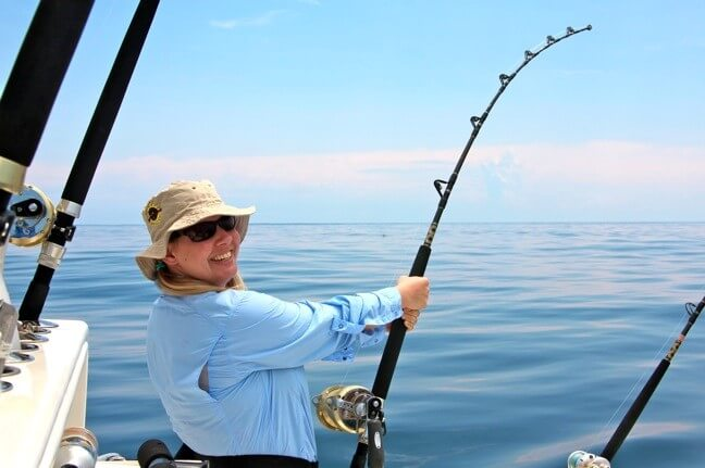 کنترل چوب ماهیگیری در هنگام صید